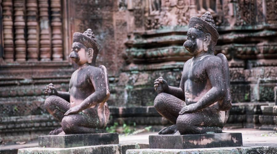 Particolare di tempio a Banteay Srei