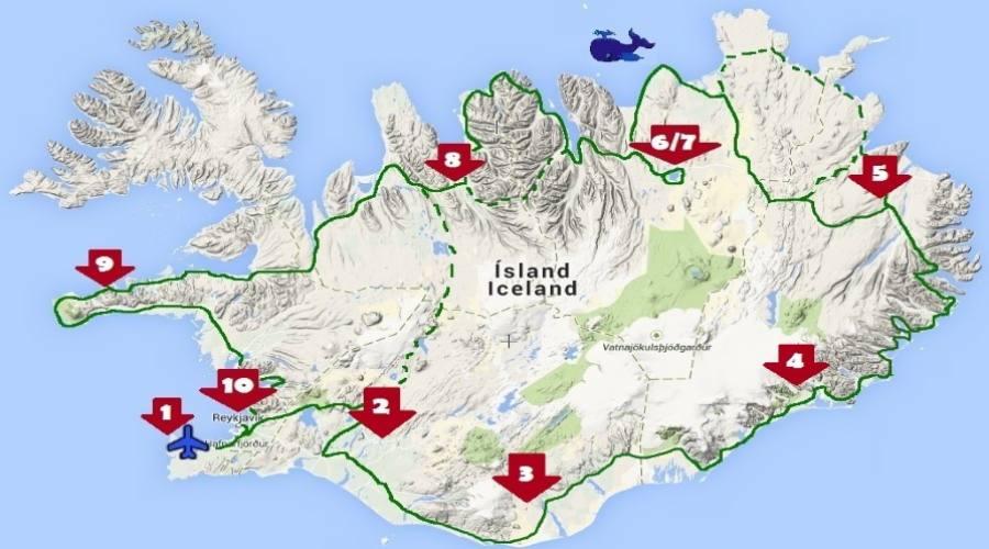 Itinerario Islanda 10 notti