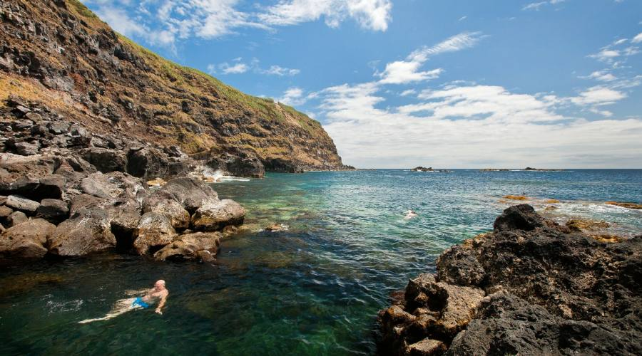 Ristoro nelle acque dell'isola