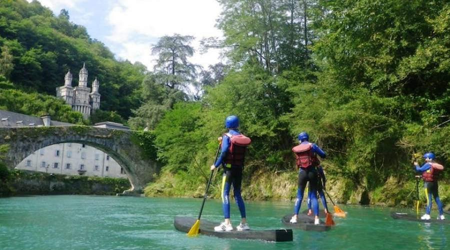in paddle sul fiume