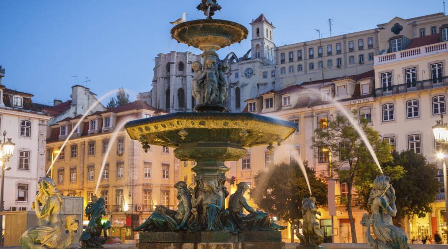 Fontana In Piazza Rossio