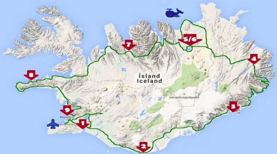 Itinerario Islanda 9 notti