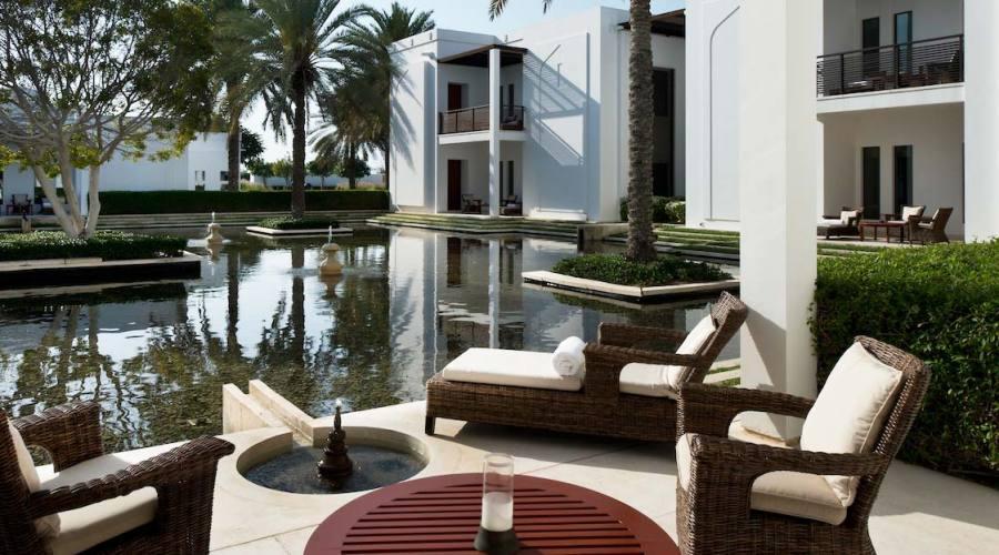 Terrazza nella camera con vista piscina