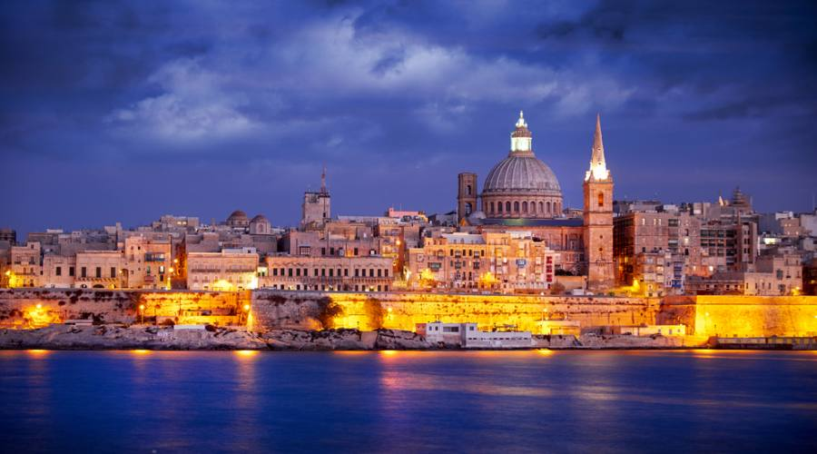 Malta: La Valletta by Night