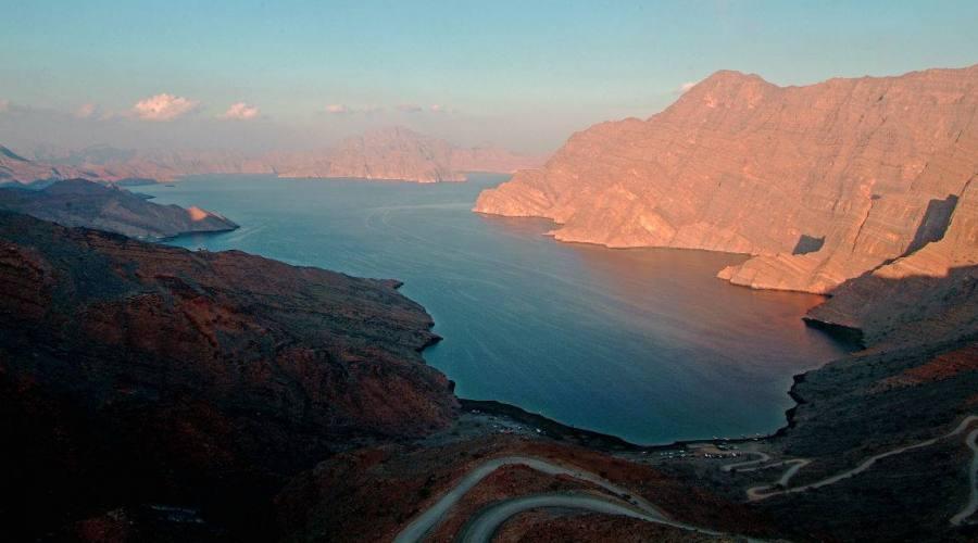 Panorama dai monti dell'Hajar