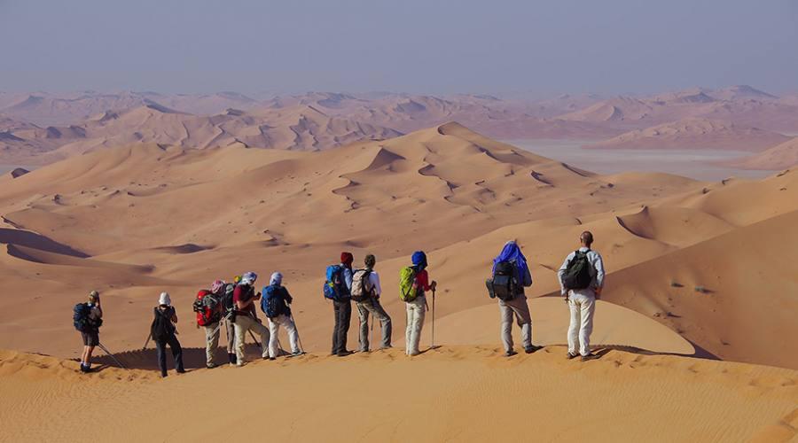 Trekking nel deserto in Oman
