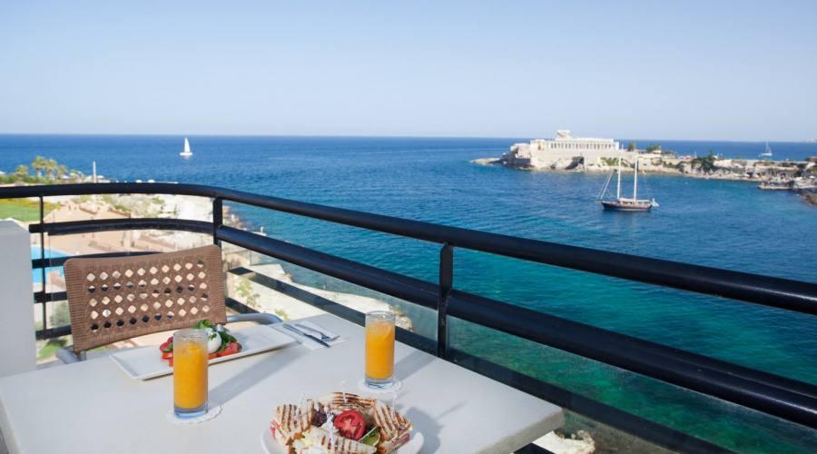 Marina Corinthia: Camera balcone vista mare