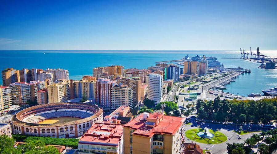 vista panoramica di Malaga