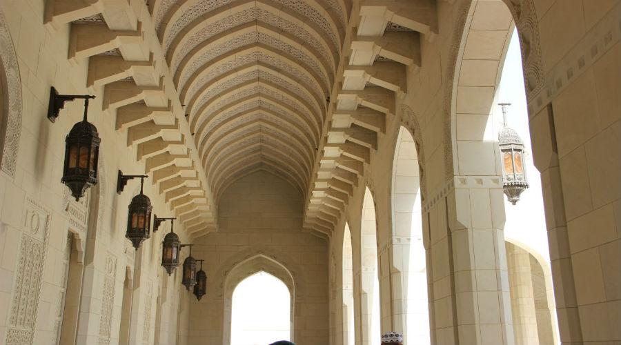 Scorcio alla Grande Moschea di Muscat