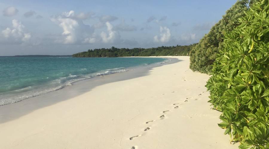 La spiaggia del Barefoot Resort