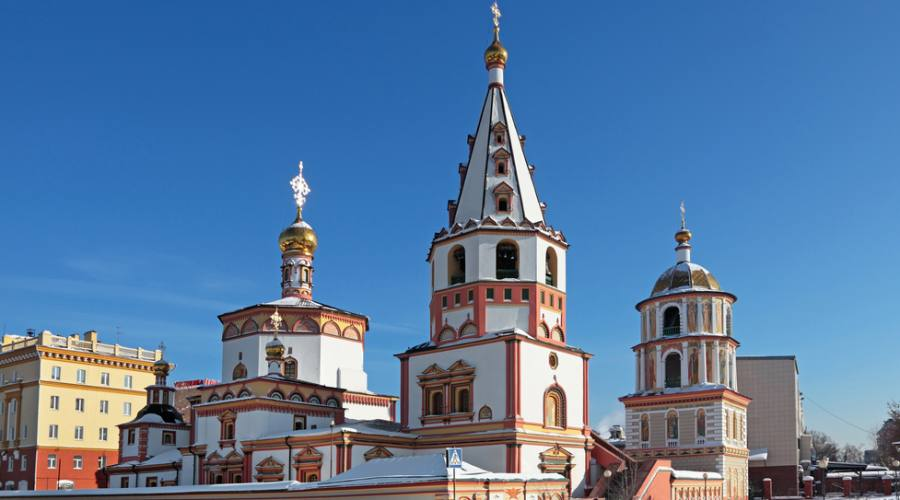 Irkutsk city, the Cathedral of the Epiphany