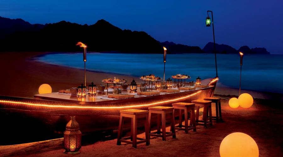 Cena sulla spiaggia