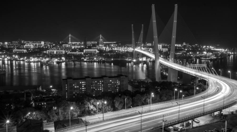 Vladivostok vista notturna