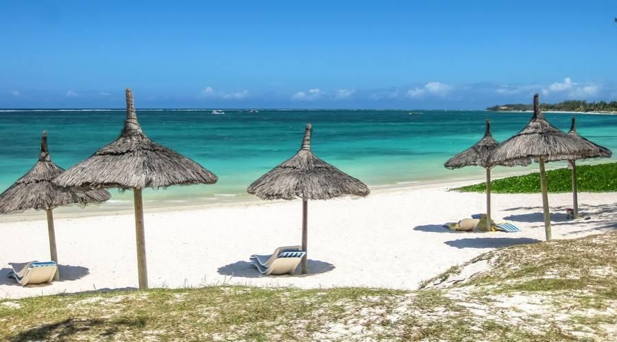 La spiaggia di Belle Mare a Mauritius
