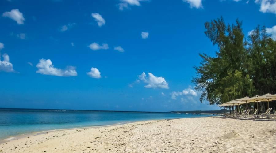 La spiaggia di Flic en Flac a Mauritius