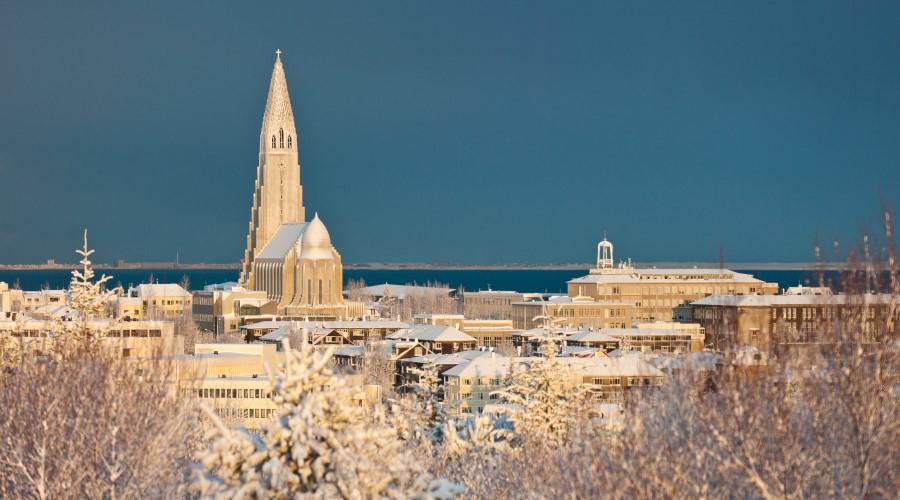 Reykjavik sotto la neve