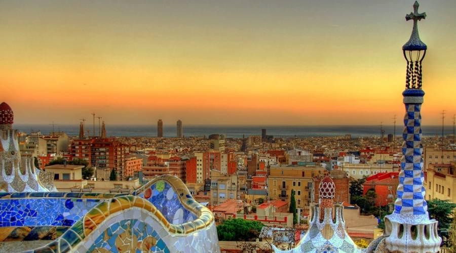Tramonto su Barcellona