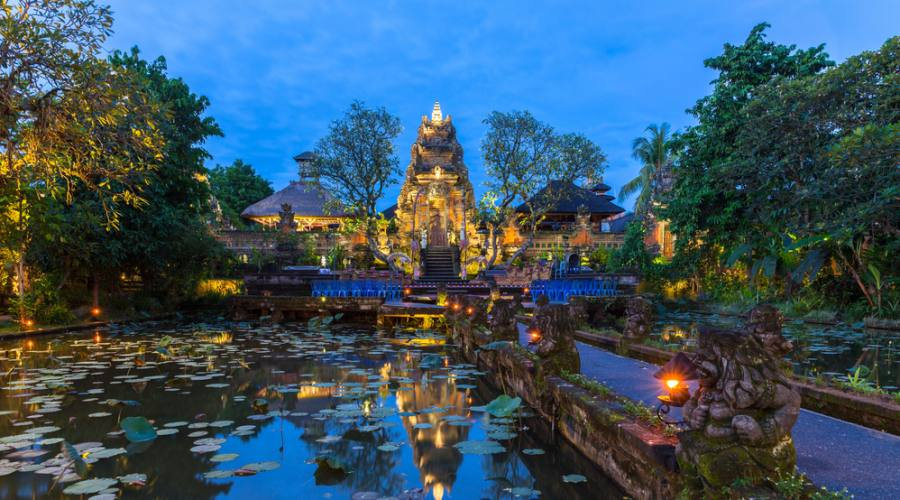 Il tempio Pura Saraswati ad Ubud