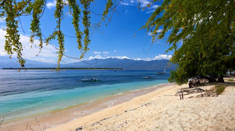 Una spiaggia a Gili