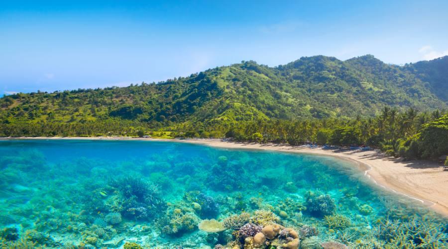 Una spiaggia a Lombok