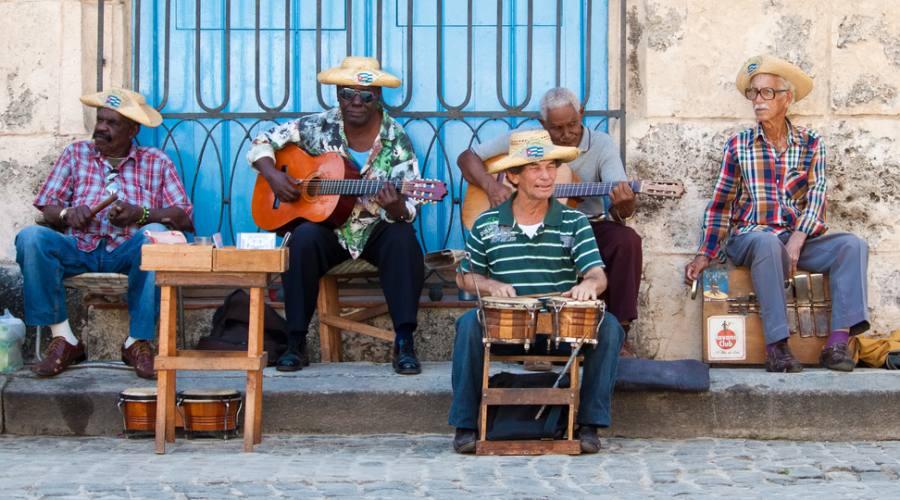 Avana, musicisti in strada