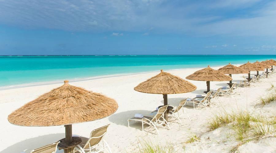 La spiaggia di Grace Bay