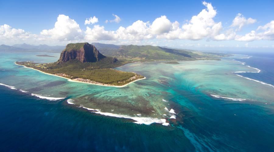 Mauritius vista dall'alto