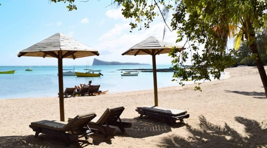 La spiaggia del resort