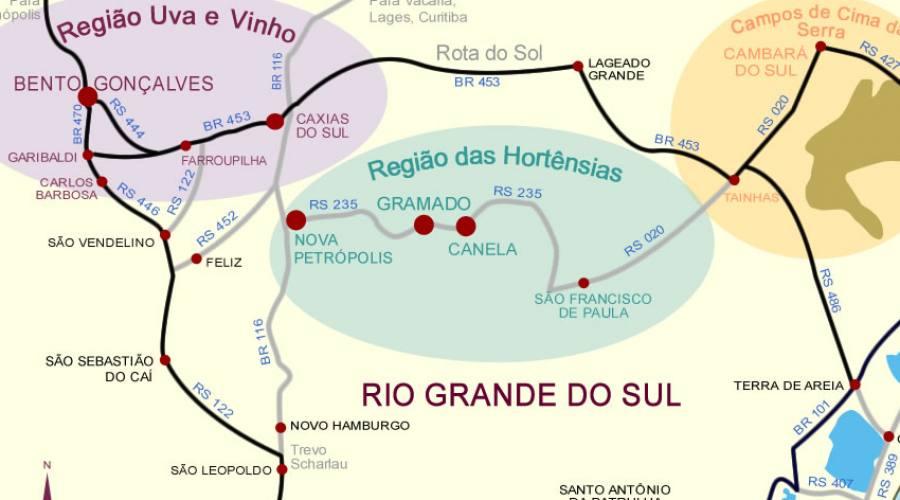 Tour Eno-gastronomico: mappa itinerario