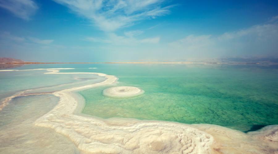 Distese di sale al Mar Morto