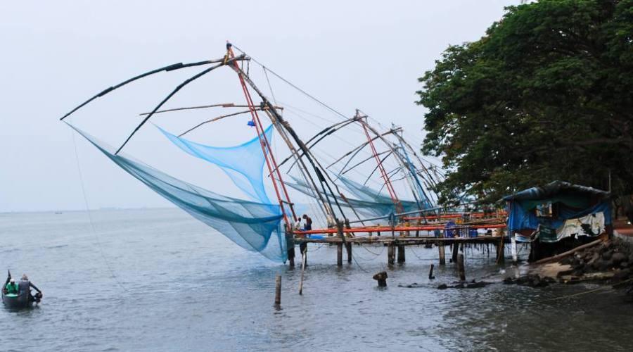 Pesca típica del sur de la India
