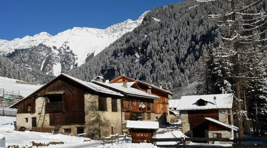 Hotel, veduta invernale
