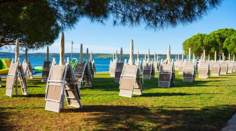 La spiaggia erbosa