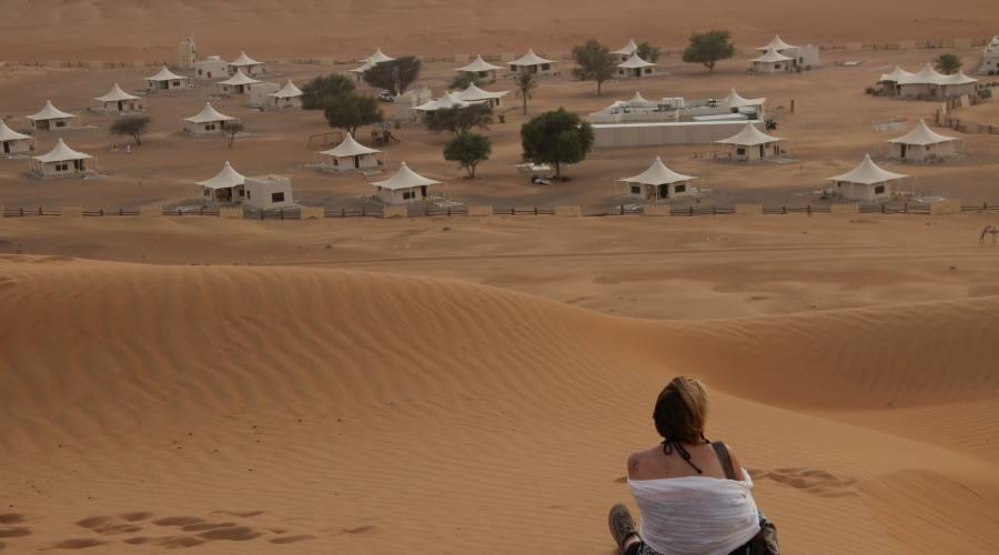 Desert Night Camp e tramonto di Wahiba