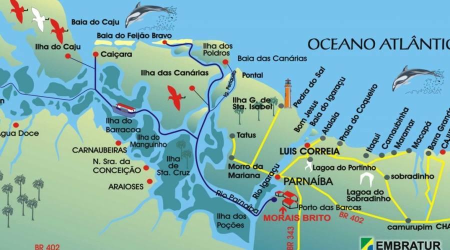 Tour Avventura Brasiliana: mappa itinerario