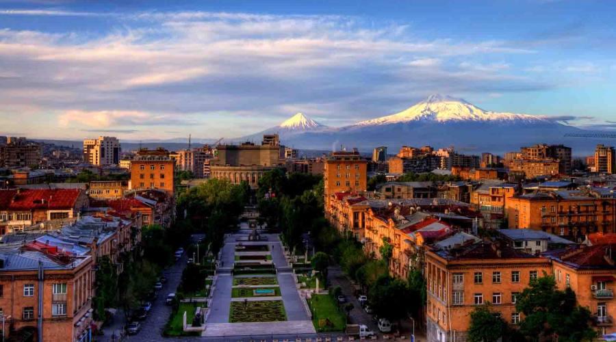 Vista di Yerevan