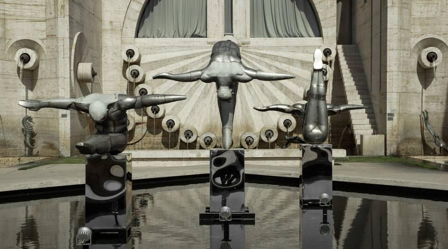 i nuotatori- scultura