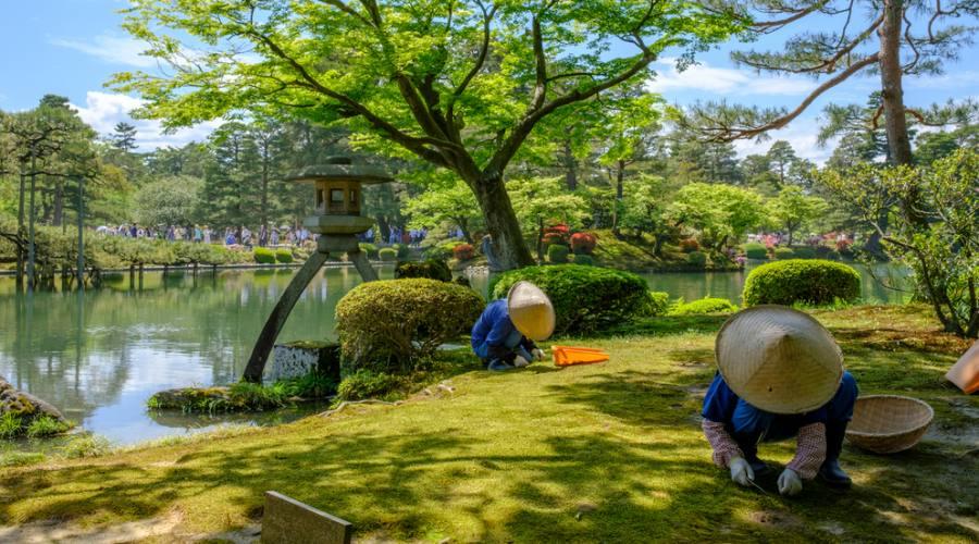 Giardino giapponese a Kanazawa