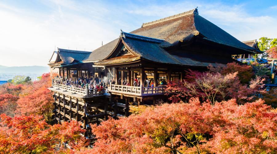 Il tempio Kiyomizu a Kyoto