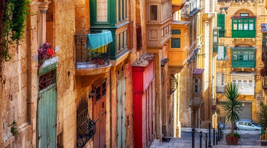 Particolari delle costruzioni maltesi a Mdina