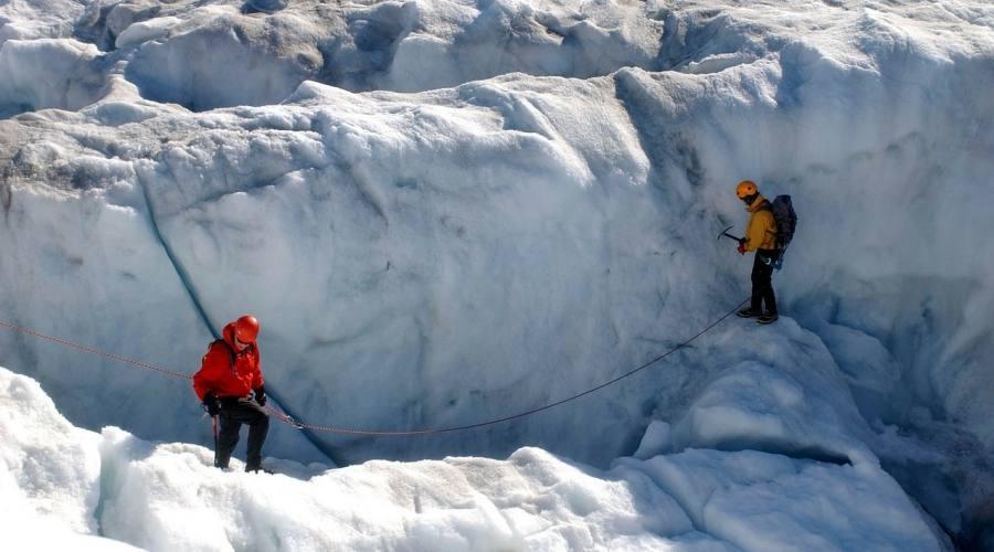 Trekking sul ghiacciaio
