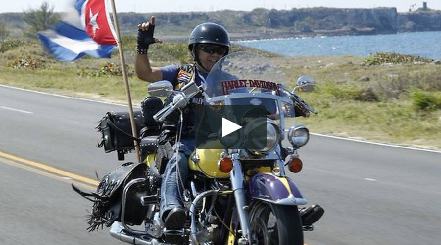 Harley Davidson on the Road of Cuba