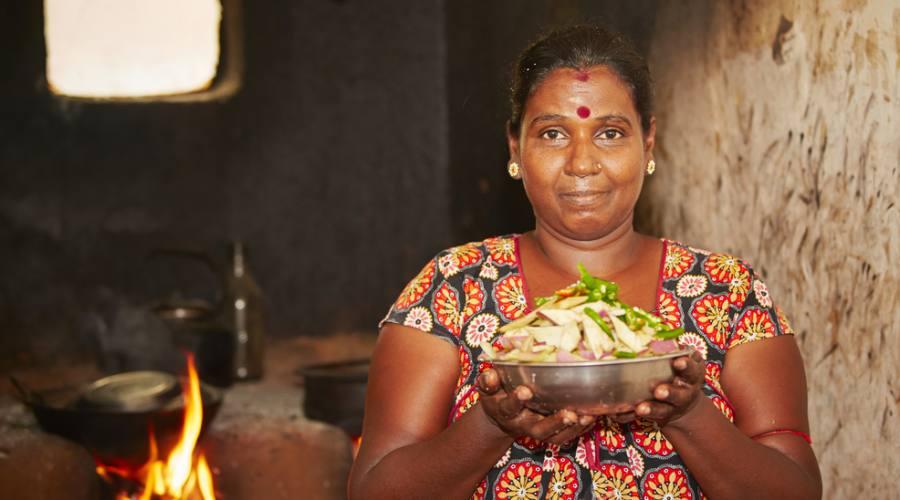 Il visita ai villaggi dello Sri Lanka