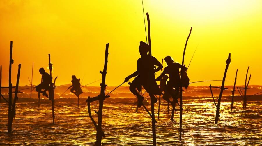 I tradizionali pescatori di Galle