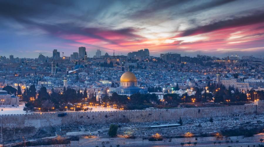 Gerusalemme, il Muro del Pianto e la Spianata delle Moschee