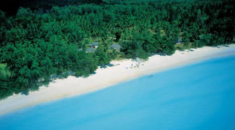 La spiaggia del club vista dall'alto