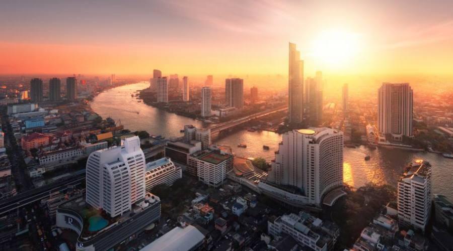Bangkok al tramonto
