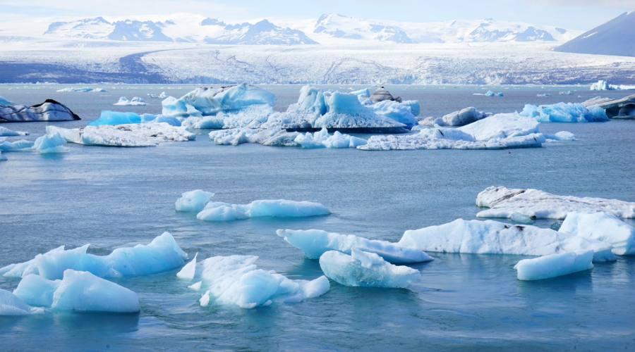 Bella vista di iceberg