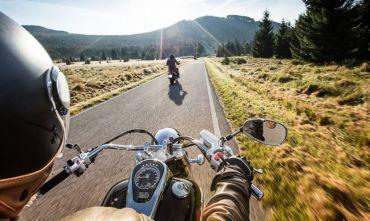 Lungo la Route 66 in moto