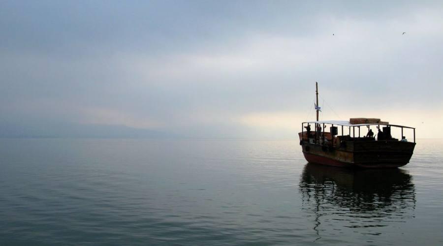 Tiberiade pesca sul lago